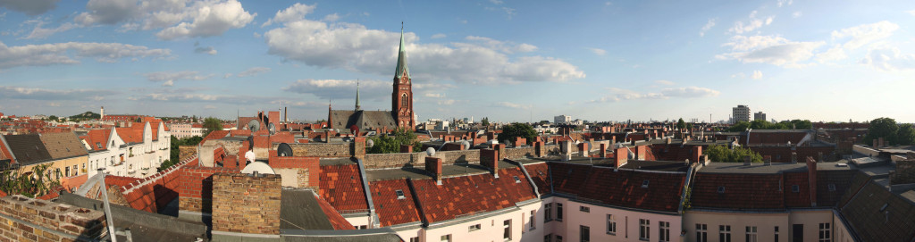Leopoldplatz from rooftop